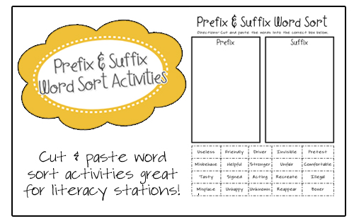 This basic suffixes worksheet helps introduce the concept of ...