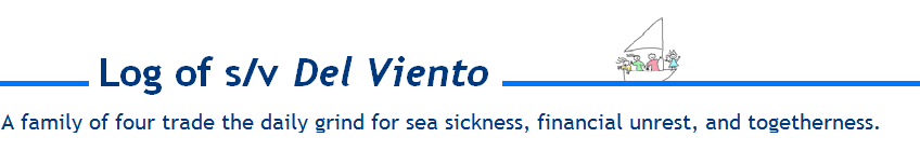 Log of s/v Del Viento