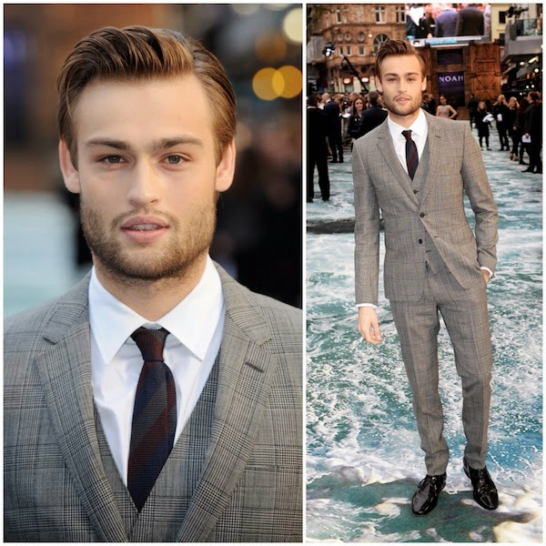 Douglas Booth in Burberry - UK Premiere Of 'Noah'