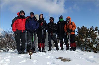 Arnaba/Montesanto mendiaren gailurra 1.255 m. - 2012ko otsailaren 12an