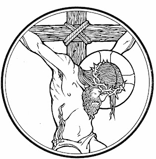 Jesus on Cross on Good Friday coloring page