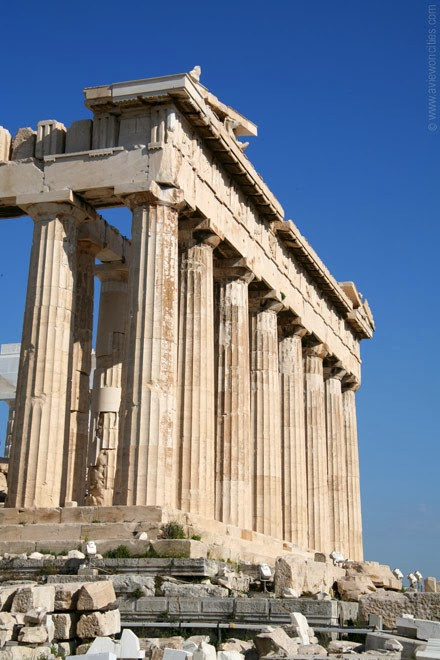 Side-view-of-the-Parthenon