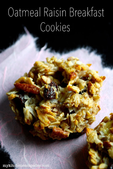 Healthy Oatmeal Raisin Breakfast Cookie