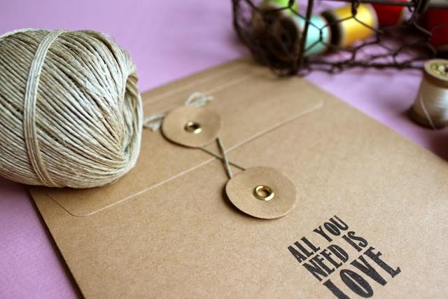 sobres craft vintage invitaciones de boda