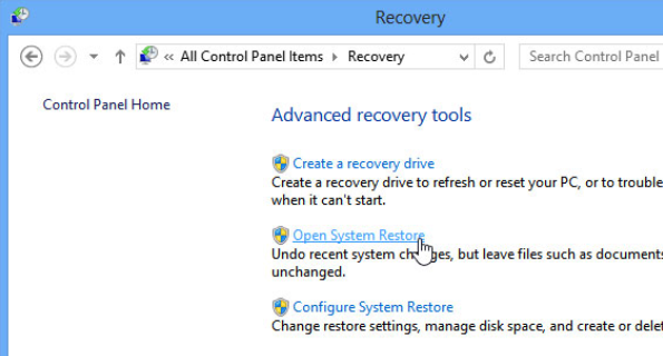 sistem restore untuk menghemat hardisk