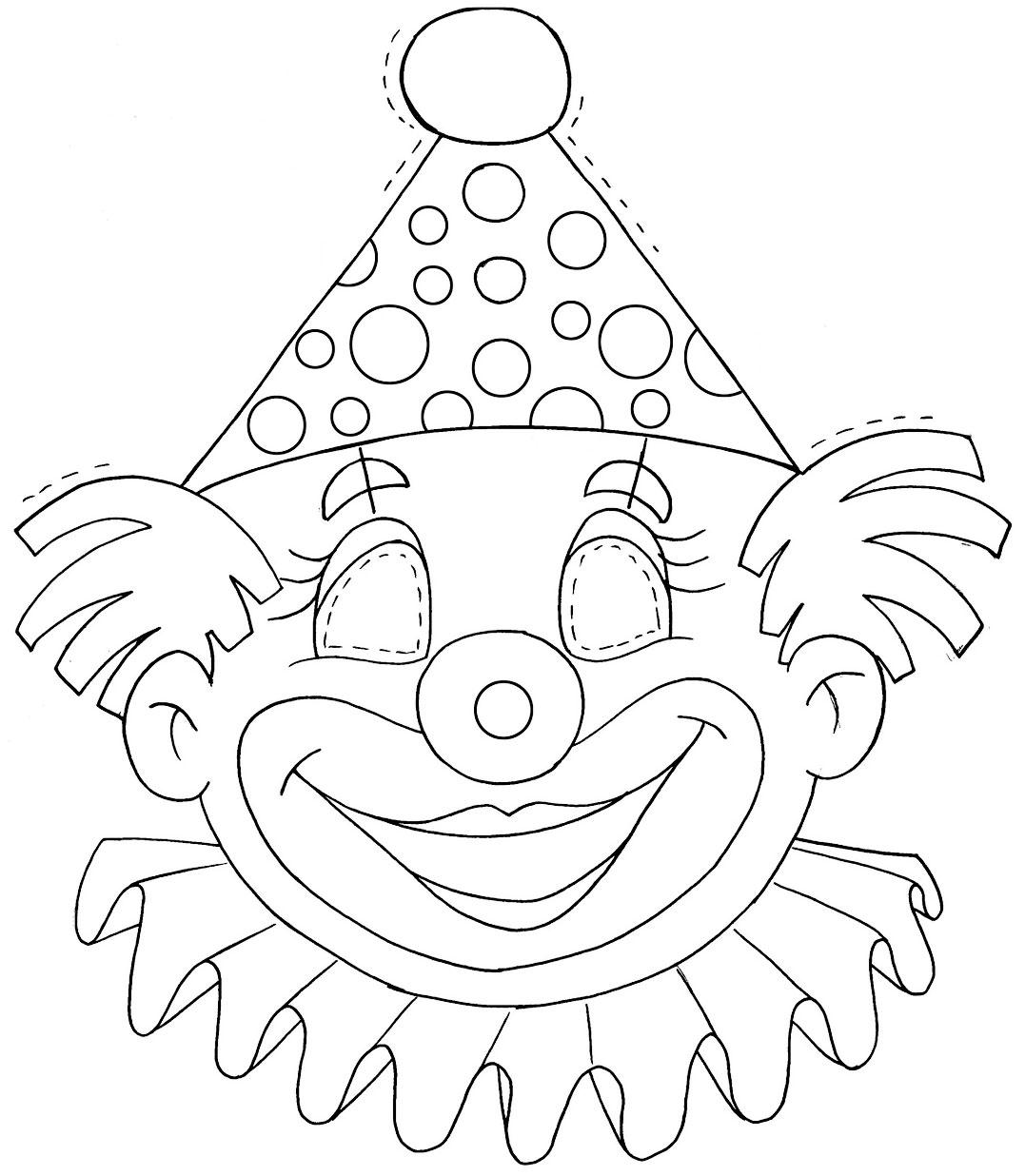 Antifaz de carnaval para colorear - Dibujos para colorear - IMAGIXS