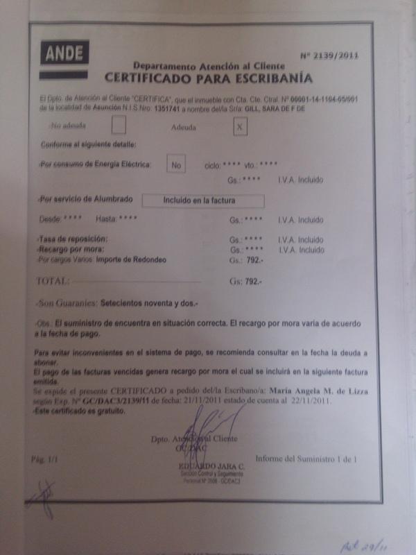 Escrituras Públicas en Paraguay