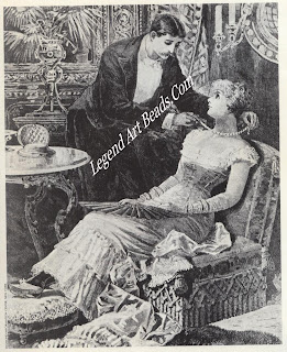 The fulfillment of the American dream circa 1870: the husband presents his young wife with her first diamond necklace. Diamonds were soon to become the status symbol par excellence in American society of the last quarter of the nineteenth century.