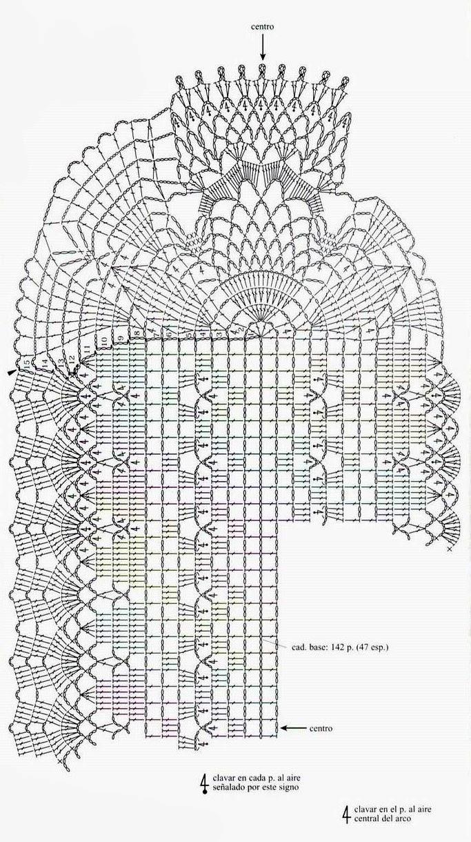 tejidos artesanales en crochet: vistoso camino de mesa tejido en crochet