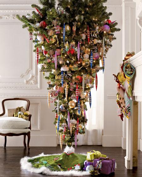 bizarre christmas tree  upside-down