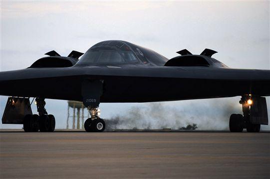 B-2 Spirit takeoff