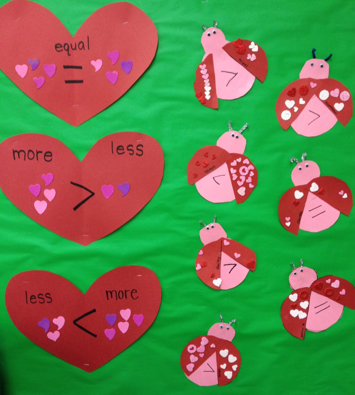 Love bug math more than less than equal apples and abcs publicscrutiny Gallery