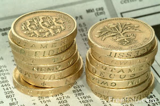 pile of £1 coins, money, voucher codes,