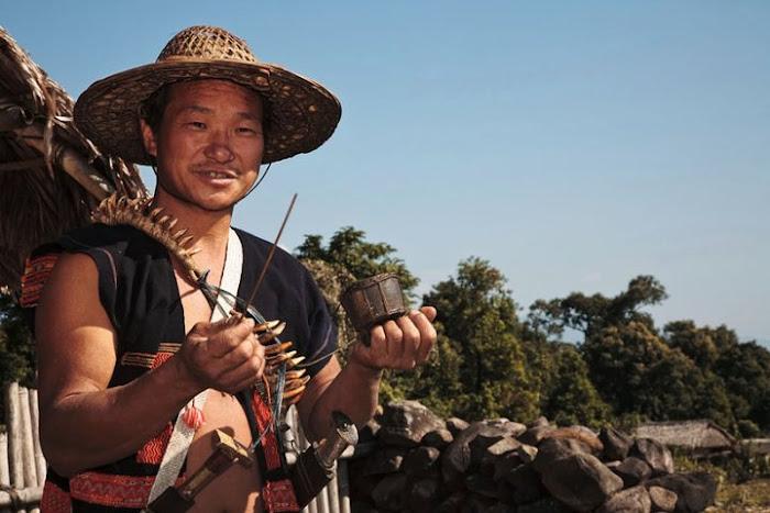 Idu Mishmi man, Arunachal Pradesh - Johan Gerrits photography