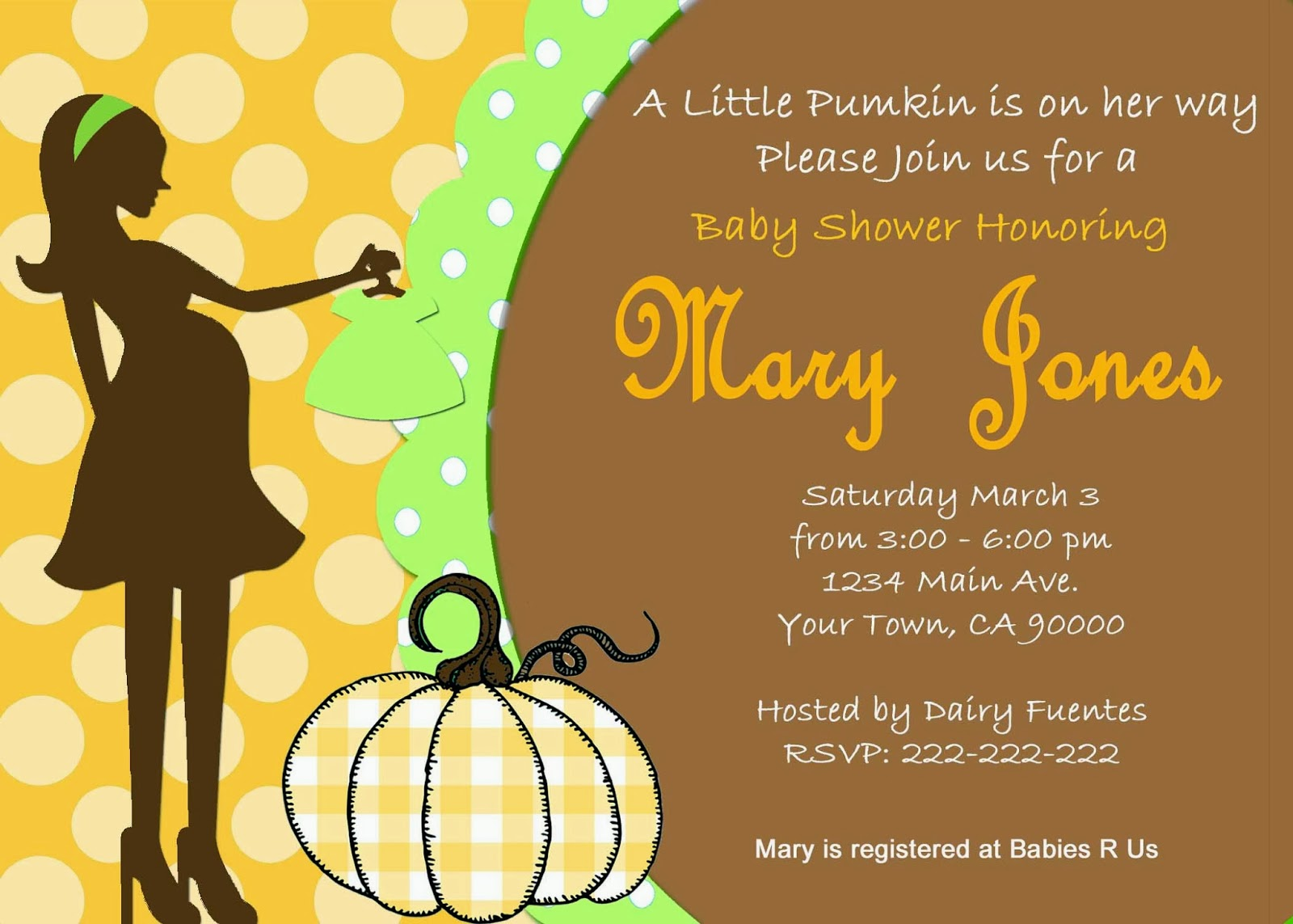 hands halloween baby shower invitation pumpking baby shower invites