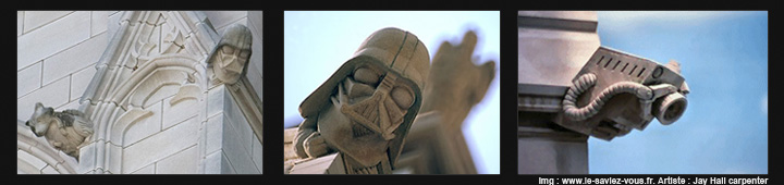 Le saviez-vous?Les gargouilles de la chapelle de Bethleem Washington-j-h-carpenter-darth-vader