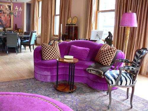 Design, Living Room, Bright Colors, Interior, Table Lamps, Birds
