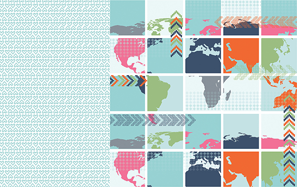 Dari Design Studio Maps and Hearts Pattern