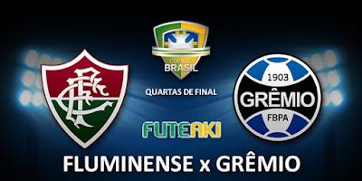 Confronto entre Fluminense e Grêmio pelas quartas de final da Copa do Brasil 2015.