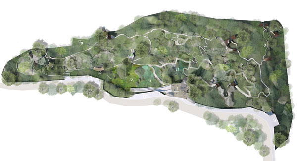 Landscape design of Butterfly Reserve