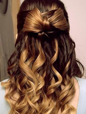 Ondas con mechas localizadas peinados