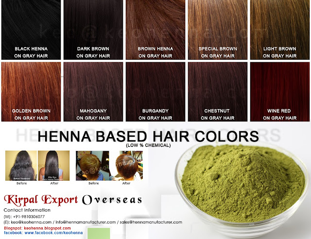 KEO's Henna Based Hair Color Shades