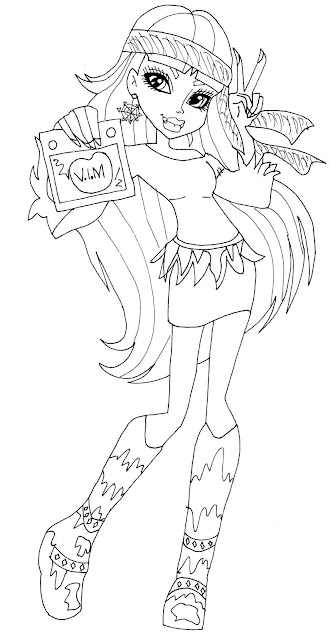 monster high coloring pages abbey - free printable monster high coloring pages september 2013