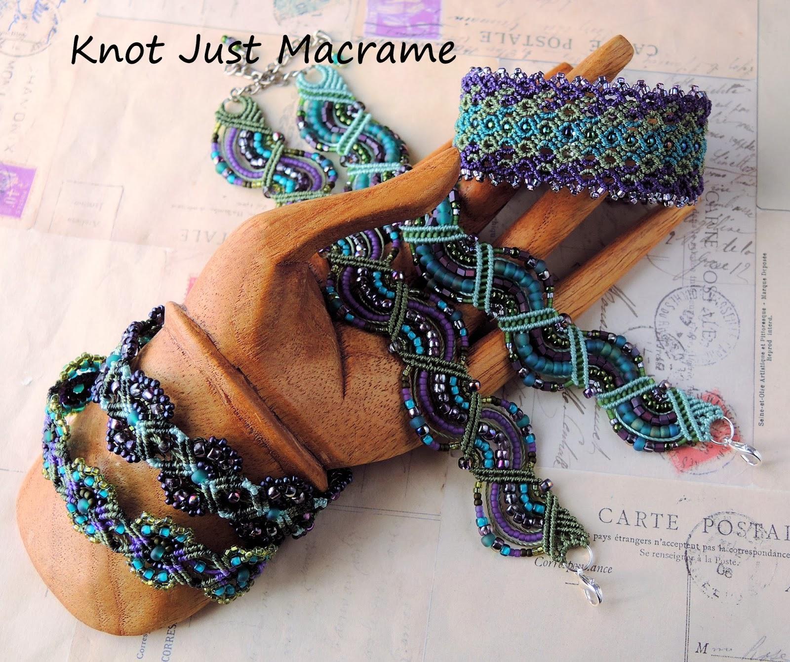 Beaded macrame, micro macrame bracelets,