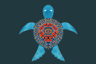 The Tribal Sea Turtle by Haidi Shabrina