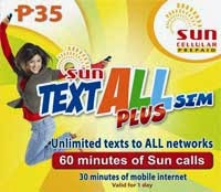 SUN Text All Plus SIM