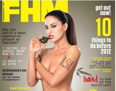 Foto Veena Malik artis pakistan di majalah FHM