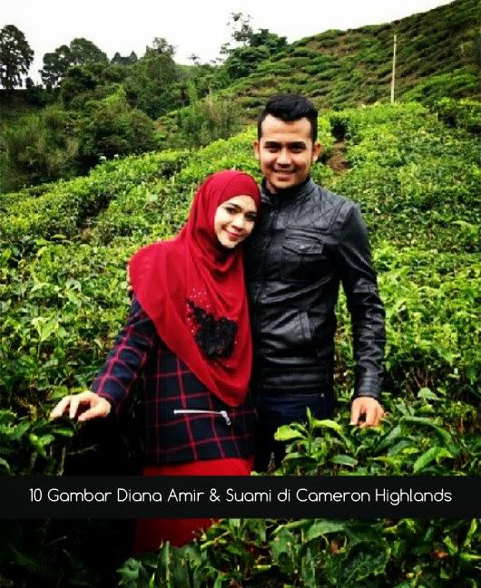 10 Gambar Diana Amir & Suami di Cameron Highlands