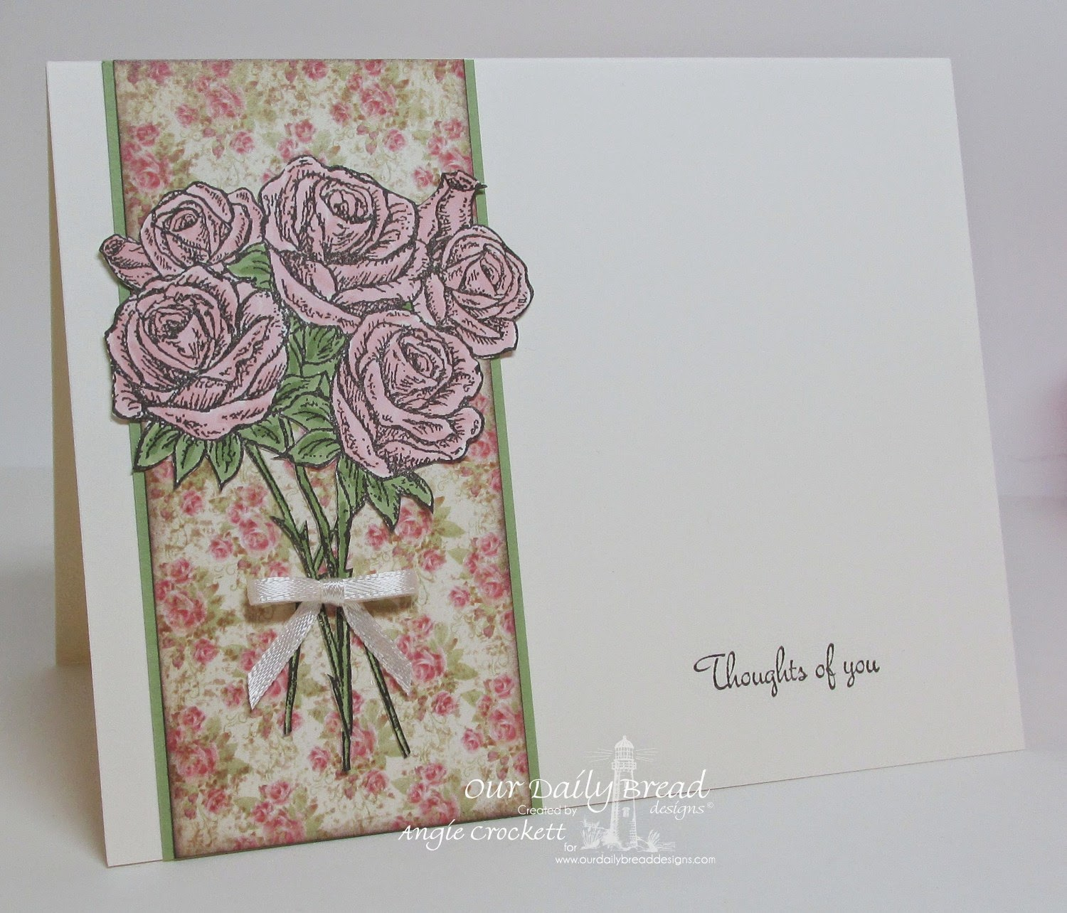 ODBD Rose Bouquet, Blushing Rose Collection, Card Designer Angie Crockett