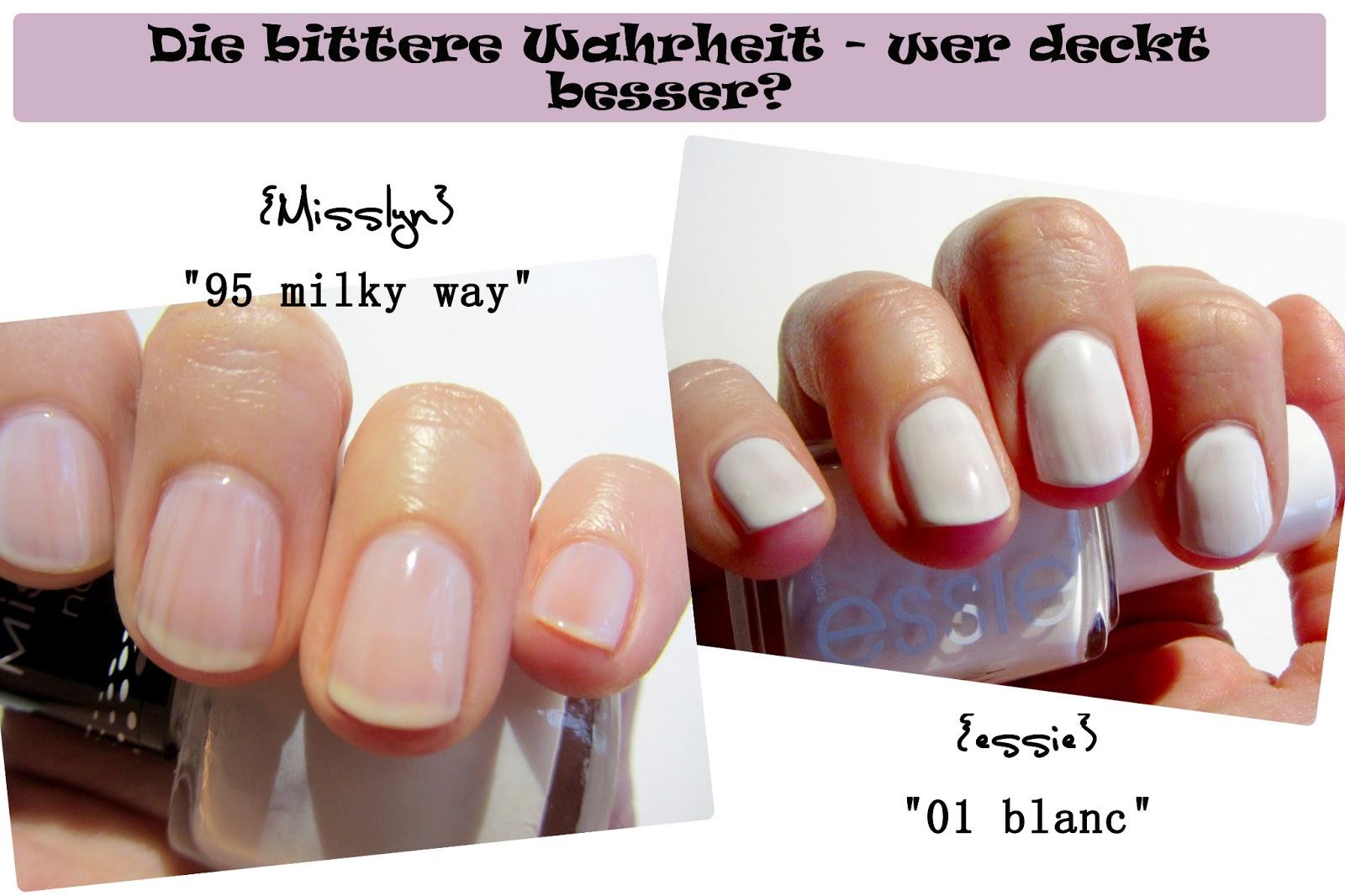 Beauty Battle — Weißer Nagellack <small>essie #01 \'blanc\' vs Misslyn ...