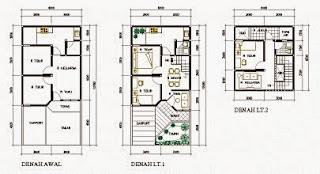 tampak depan rumah minimalis 2 lantai type 220 kotakmimpi