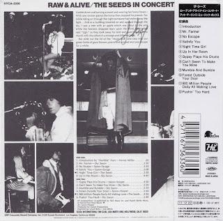 SEEDS - RAW & ALIVE IN CONCERT (GNP CRESCENDO 1967) Jap mastering cardboard sleeve