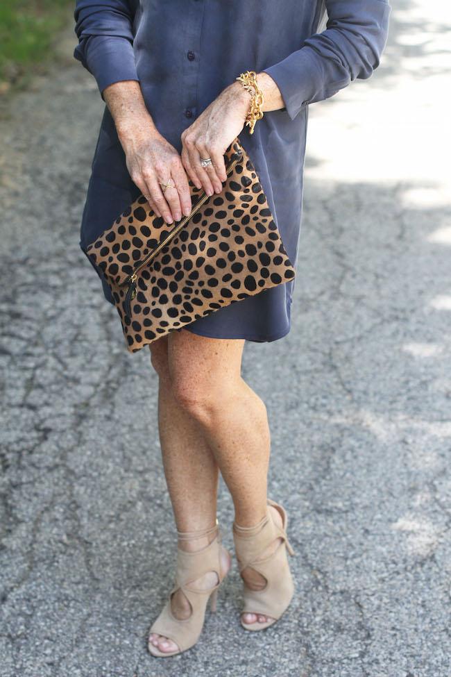 clare v leopard clutch, aquazzura heels