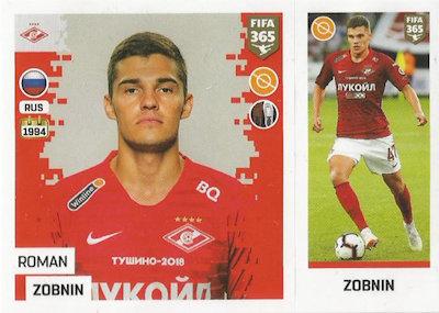 Lorenzo Melgarejo Sticker 300 a//b Panini FIFA365 2019 FC Spartak Moskva