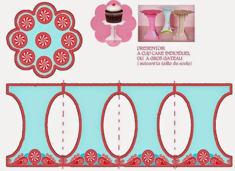 Candyland: Free Printable Mini Cupcake Stand.