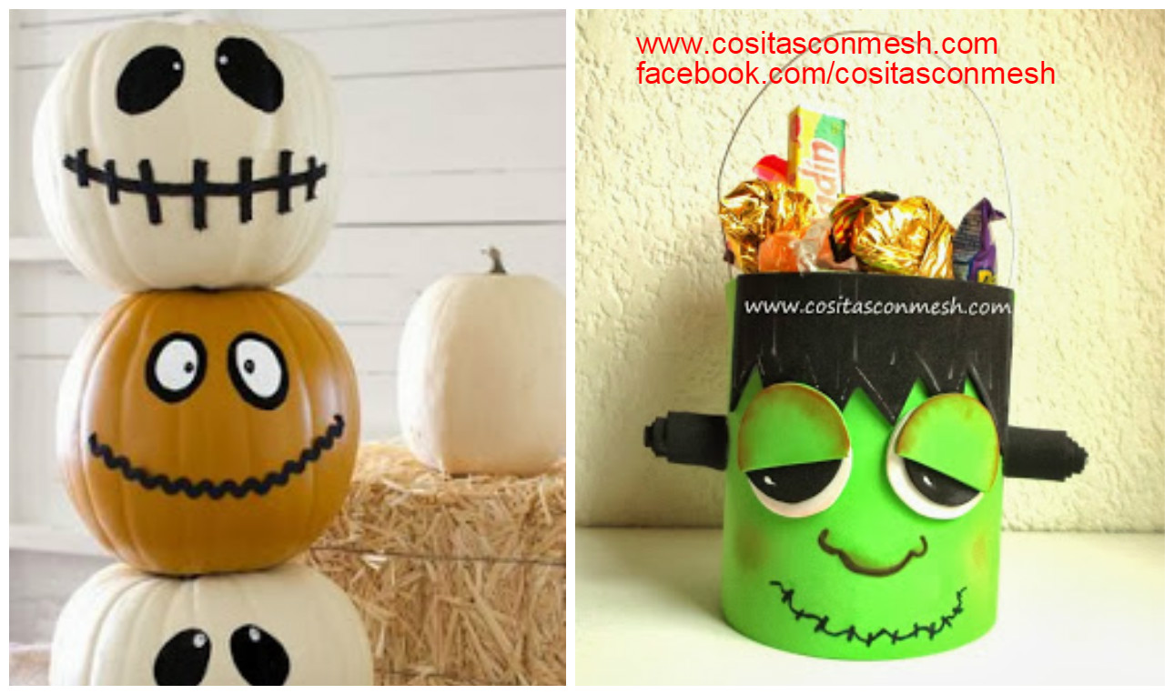 Calabazas decoradas para halloween manualidades - Manualidades para decorar halloween ...