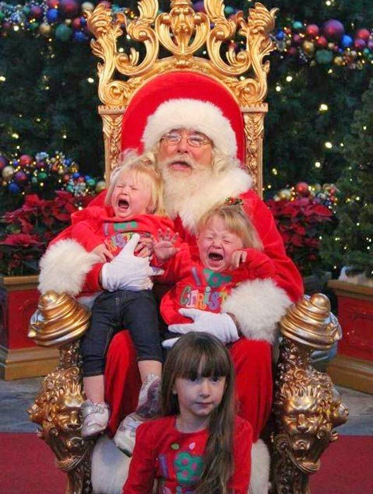 Skook News Photos Of Kids Who Are Scared Of Santa Claus
