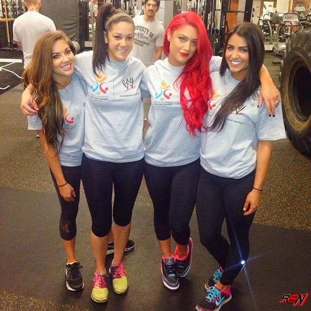 Eva Marie Pays the WWE Performance Center a Visit.