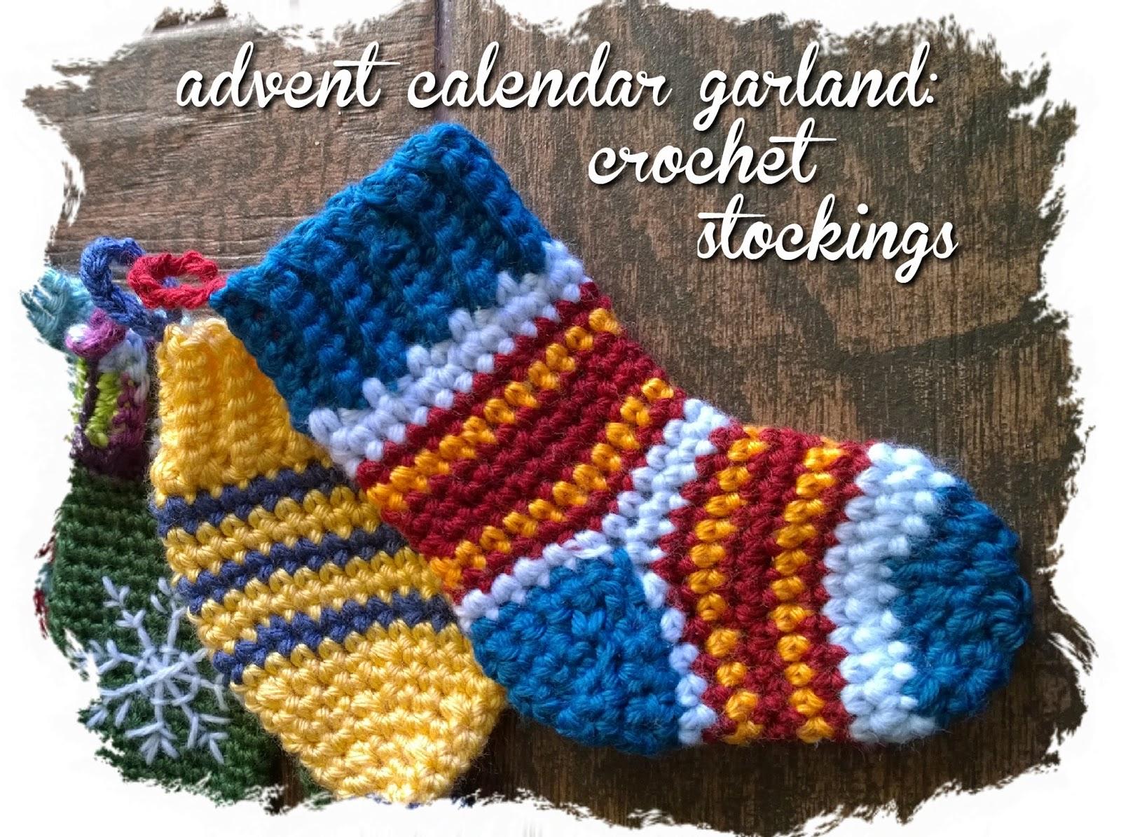 non*sense..: advent calendar garland: crochet stockings