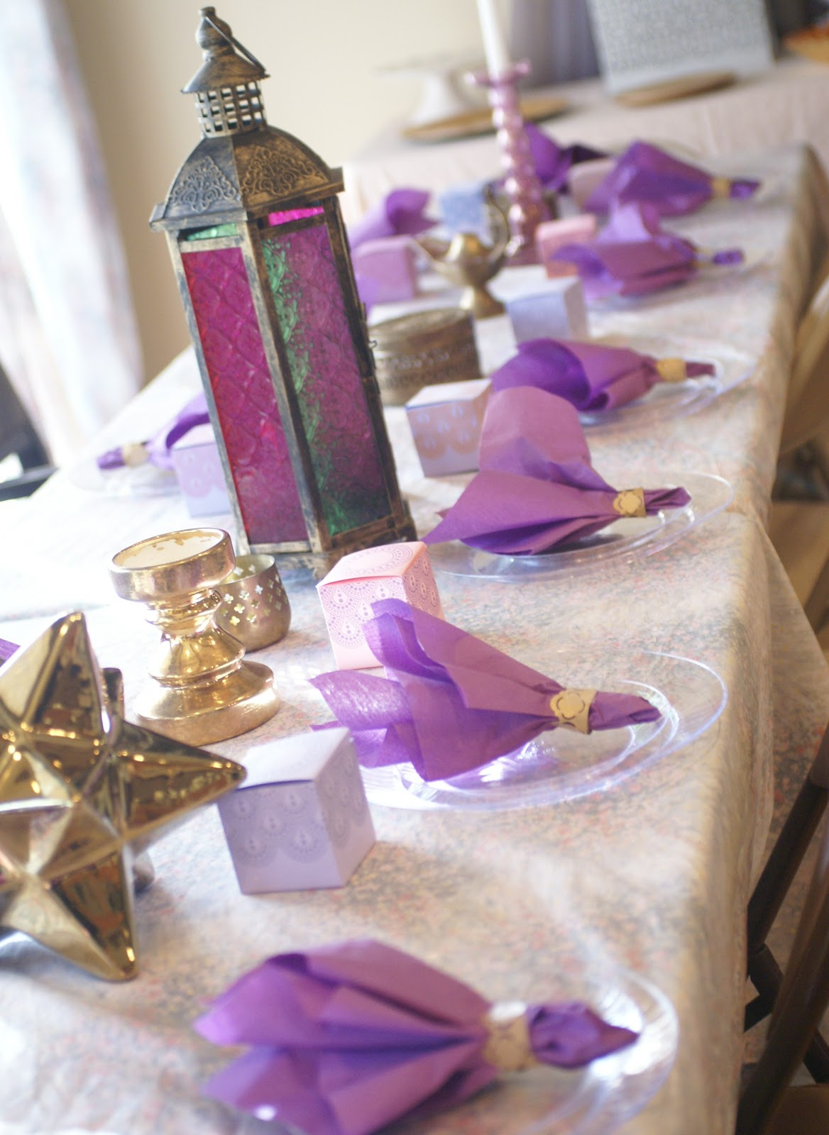 by viktoria muted moroccan shades of purple and gold baby shower