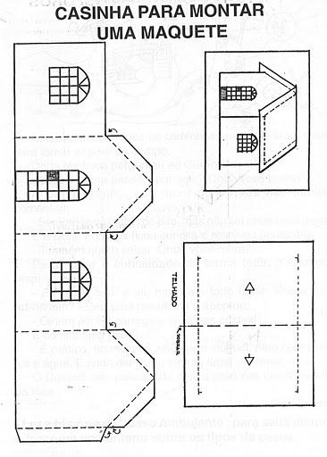 Das Moradias  Modelos De Casas Para Recortar E Montar E Atividades