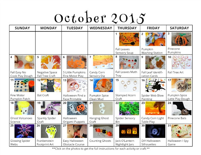 October Calendar Ideas For Preschool : Fall halloween activities for kids free october