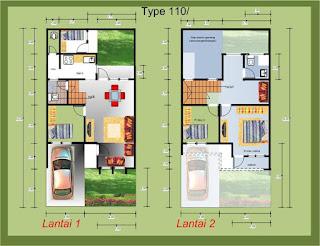 model rumah minimalis beserta denah