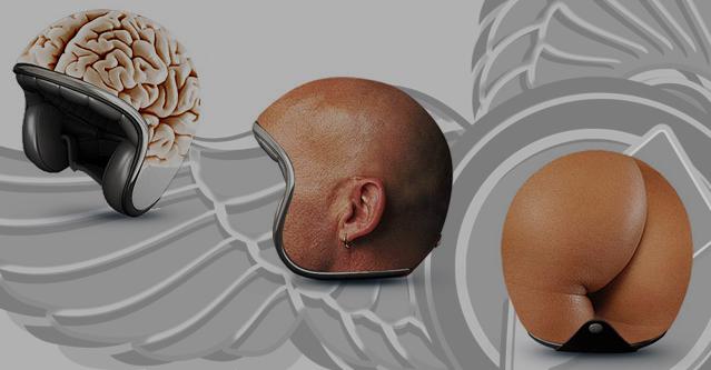 body helmet art | brains to buttocks