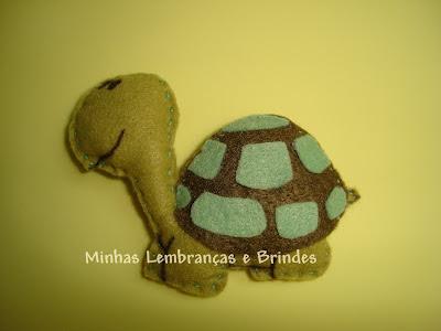 tartaruga-chaveiros-feltro-lembrancinha