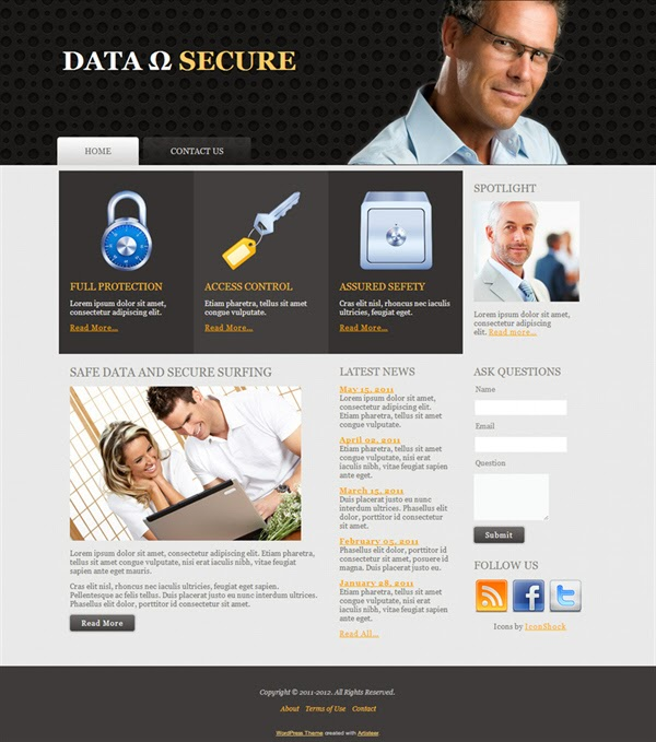 Data Secure - Free Wordpress Theme